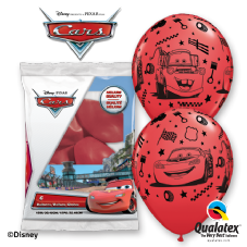 Disney Cars Lightening McQueen & Mater Red Balloons 6 Pack